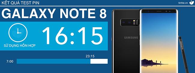 Pin Galaxy Note 8 đã cho thời gian sử dụng cao như thế này thì Note 9 chắc chắn sẽ cao hơn nhiều rồi
