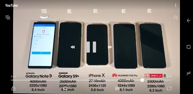 DUng lượng pin 4000mah trên Galaxy Note 9 có đủ dùng?