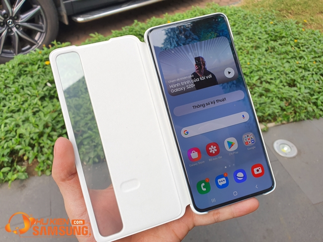 Bao da Samsung S20 Plus Clear View cao cấp Đà Nẵng
