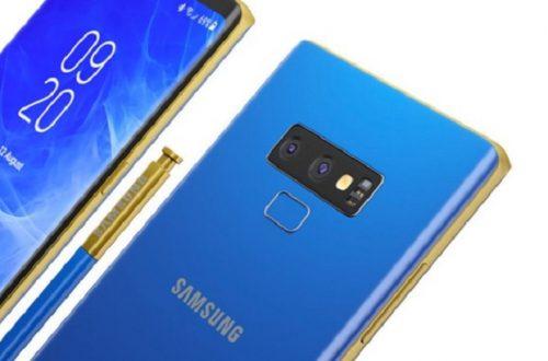 thiết kế cụm camera chữ T trên Galaxy Note 9