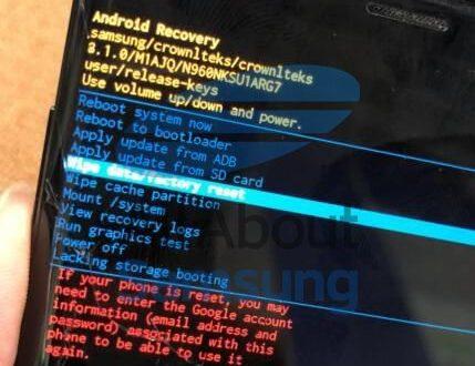 truy cập được bootloader trên galaxy note 9