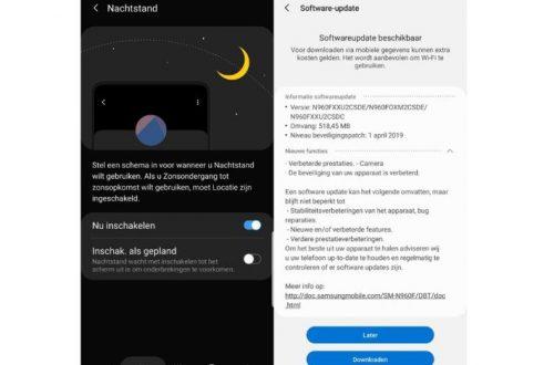 Bản cập nhật mới giúp Galaxy Note 9 tự lên lịch chế độ ban đêm cũng như selfie góc rộng