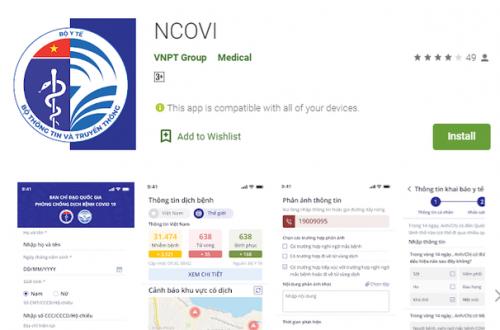 App NCOVI đã có mặt trên iOS, Android